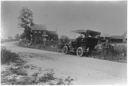 The Whitman Birthplace on Broadhollow Road (Old Route 110) during the 1920s. The road is now known as Old Walt Whitman Road. Photographer unknown.